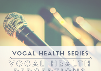 Vocal Health Series: Vocal Health Perceptions